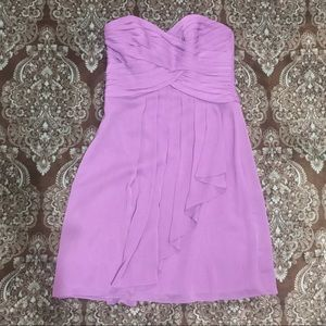 David's Bridal Strapless Formal Dress Lilac size 2